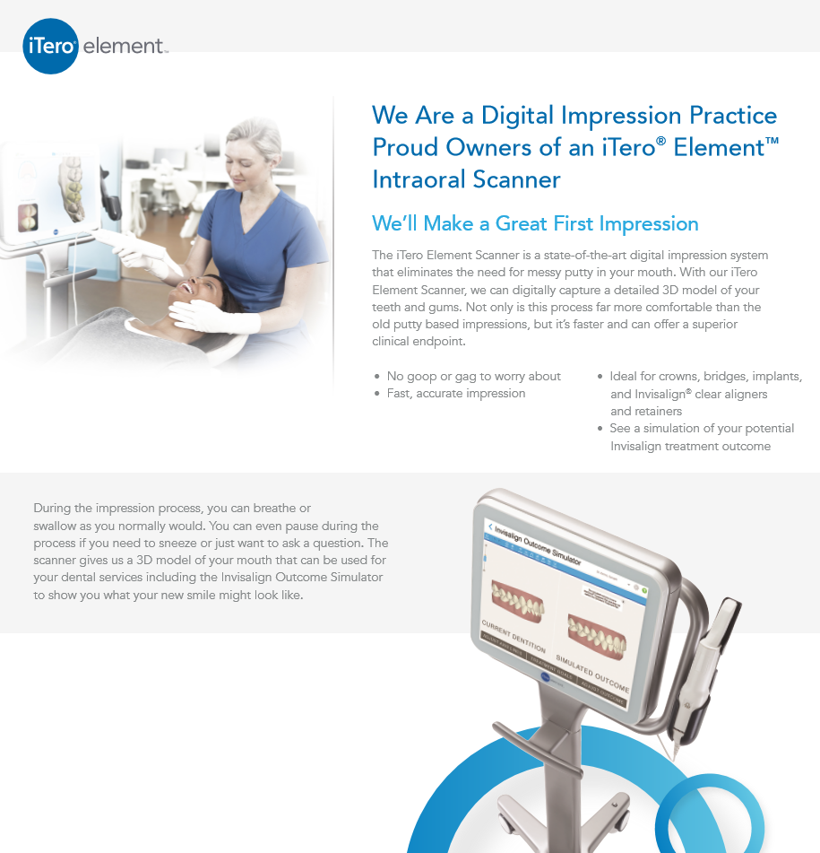 Read more about the iTero Element Scanner and how we use to help our patients.